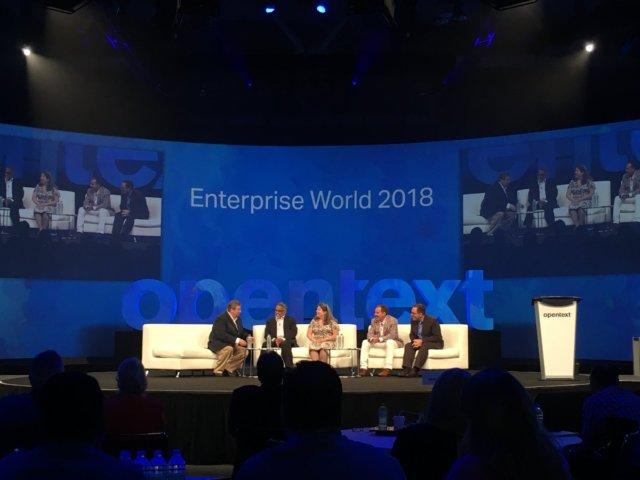 enterprise world 2018 - Clientes de OpenText revelan secreto para empresas inteligentes y conectadas Aptus Legal