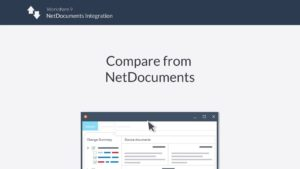 compare from netdocuments 300x169 - Comparación de Workshare en NetDocuments Aptus Legal